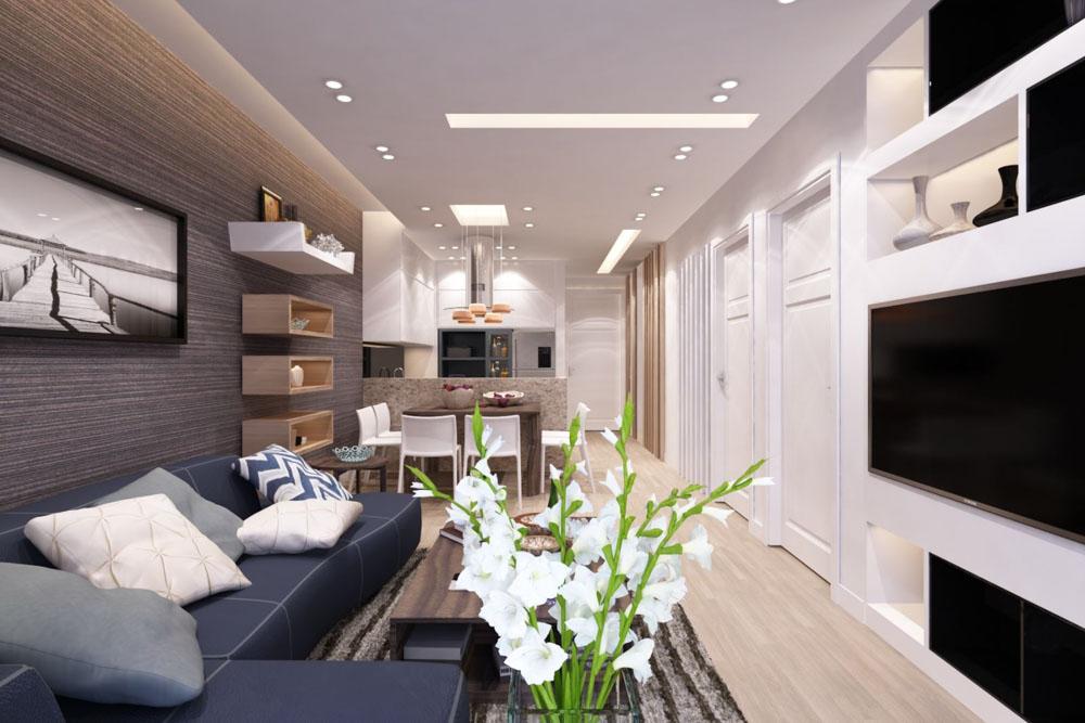 Tùy theo vị trí và hướng của toàn bộ căn nhà mà bạn có thể lựa chọn hướng phòng khách đảm bảo phù hợp