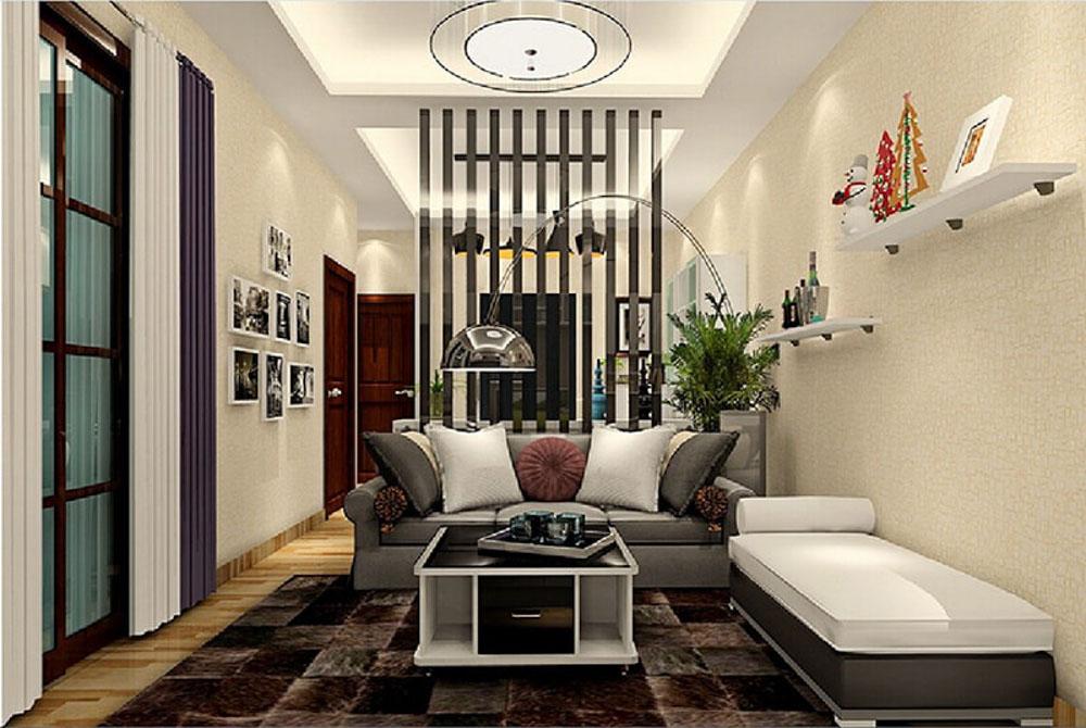 Vách ngăn phòng khách rất quan trọng nhằm phân chia các không gian