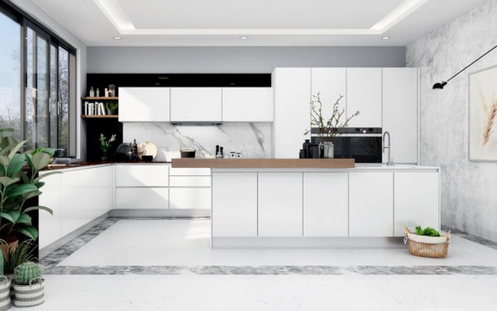 Tủ bếp Acrylic không đường line đảm bảo độ bền tốt hơn