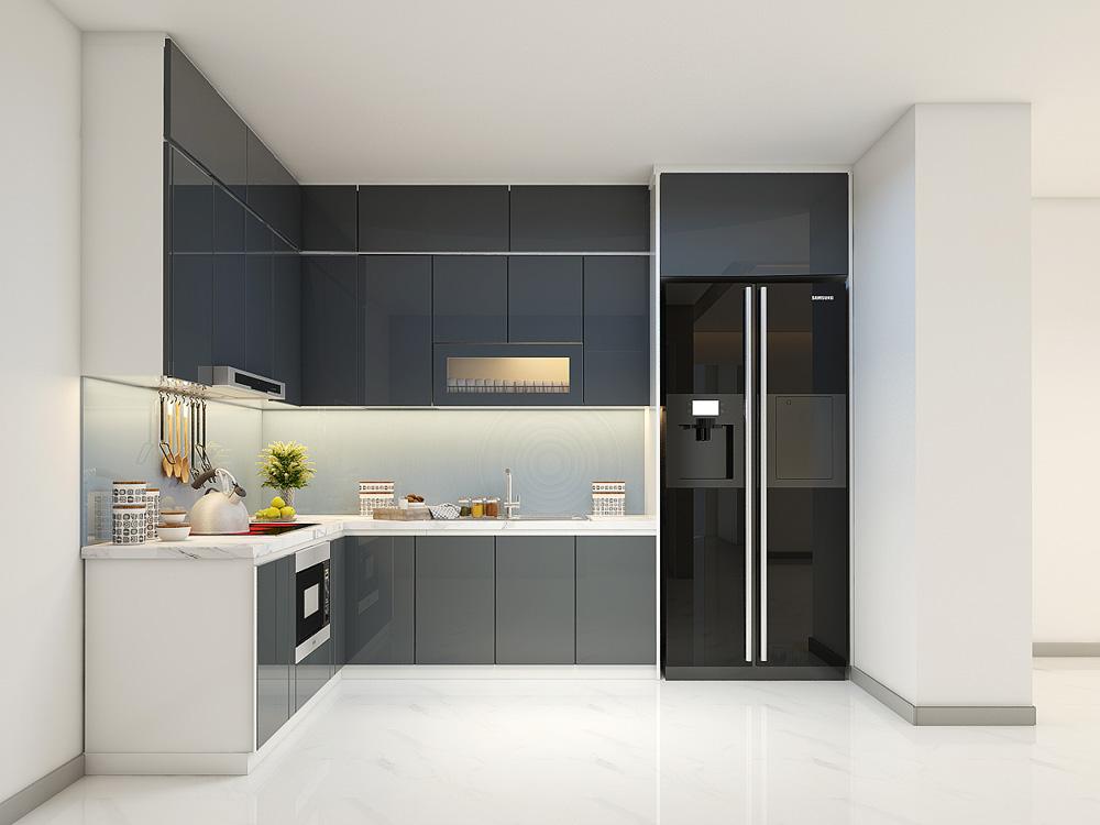 Đương nhiên giá tủ bếp Acrylic cao hơn giá tủ bếp phủ melamine rồi