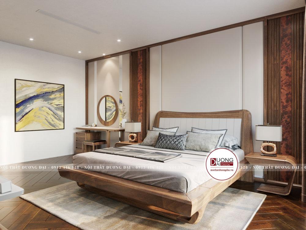 Không gian phòng ngủ Master là không gian mang tới sự ấm cúng và là không gian riêng tư mà gia chủ cực kỳ quan tâm