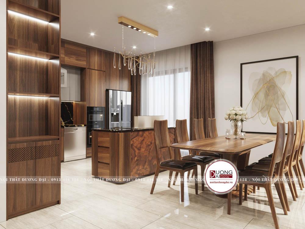 Không gian căn bếp là một trong những không gian cực kỳ ấm cúng và thân thiện của ngôi nhà