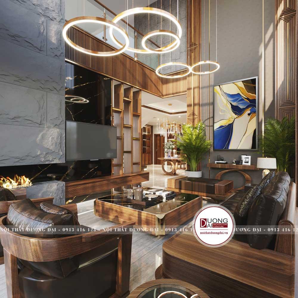 phòng khách nhà anh Dũng không phải là một không gian lớn nhưng nó đảm bảo đầy đủ các món đồ nội thất cần thiết