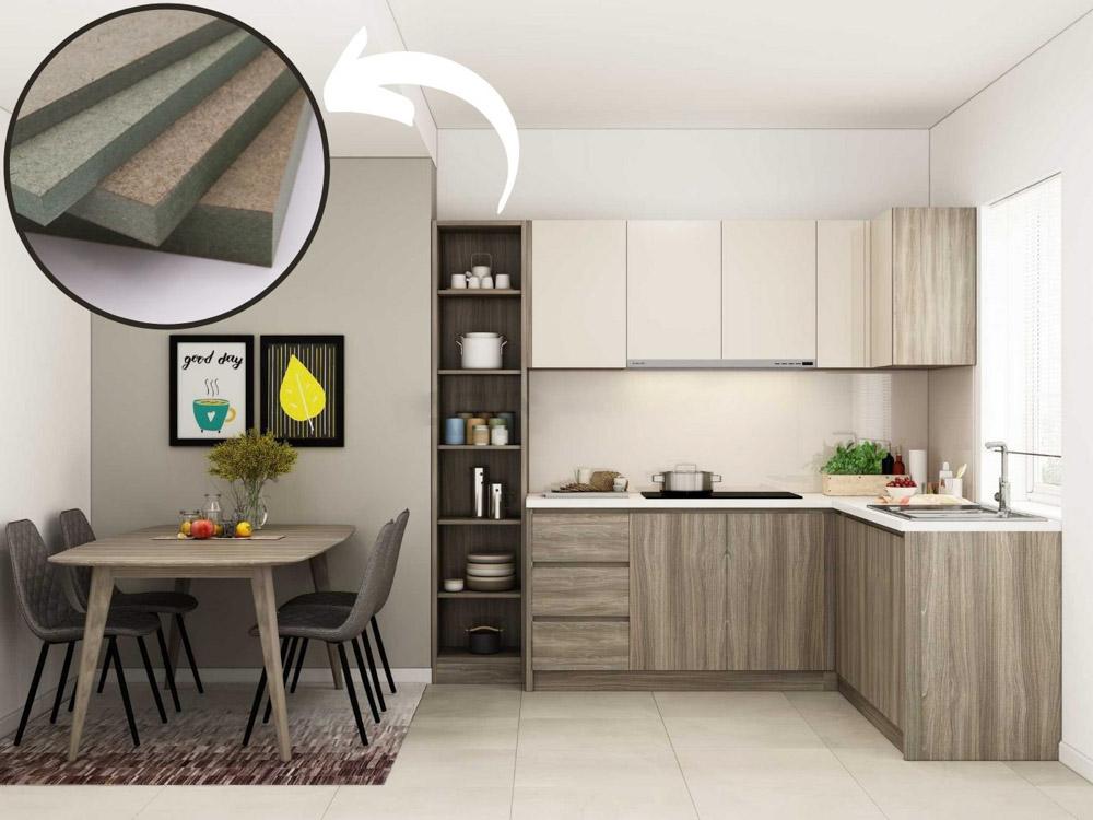 Về tính thẩm mỹ thì sản phẩm tủ bếp Melamine đảm bảo được sự sang trọng và gần gũi