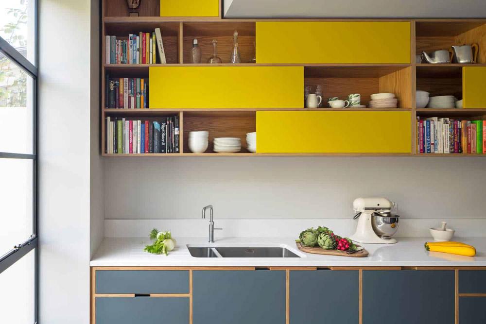 Tủ bếp màu vàng - cá tính và hiện đại cho căn bếp bừng sáng
