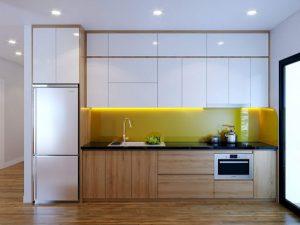Tủ bếp laminate có độ bền cao với khả năng chịu lực va đập cực tốt